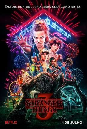 Stranger Things - 3ª Temporada Completa Séries Torrent Download capa